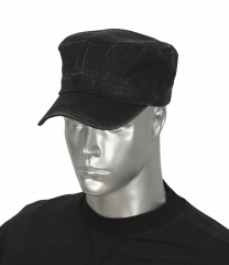 Gorra negra BARBARIC canvas
