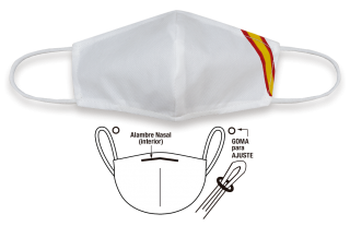 Acc.facial TNT Bandera España blanca NO HOMOLOGADA
