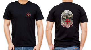 Barbaric basic black t-shirt. Templar
