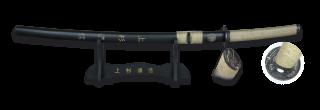 Katana TOLE10. Peana. Hoja 65.5 cm