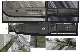 cuchillo K25 negro. Bayoneta. 17.8