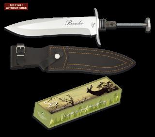 Cuchillo Rececho. Total 38.4cm. C/Funda