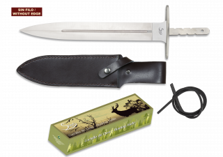 Cuchillo espiga. Total 32.2 cm. C/Funda