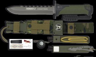 Cuchillo Thunder II. Camo verde. 17.