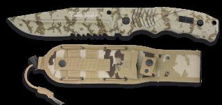 cuchillo K25 SFL camo con sierra. h. 14