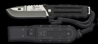 cuchillo K25 encordado negro. tit. h: 11