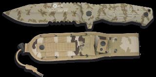 cuchillo K25 coyote.titanium coated. 14