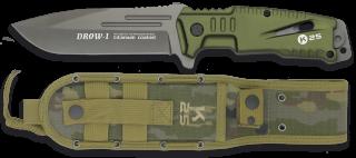 cuchillo K25 DROW-I verde. 12 cm