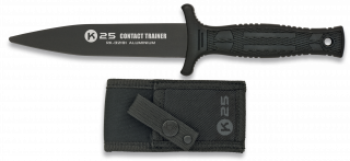 cuchillo K25 entrenamiento negro.12.5 cm