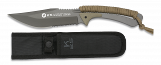 Tactical knife K25 coyote cord wrapped
