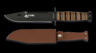 Cuchillo ALBAINOX C/Funda Piel. H: 18 cm