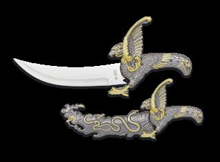 Cuchillo clásico águila-serpiente
