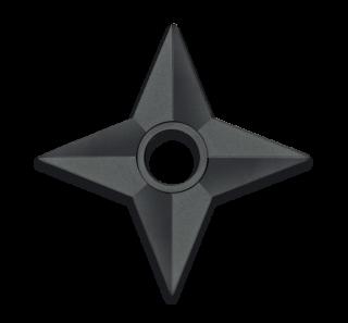 Shuriken entraînement. 12.4 cm