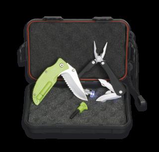SET: Box+Pliers+Pocket knife+Fire starter