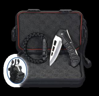 SET: Box+Pocket knife+Paracord