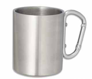 Metal mug with snap hook