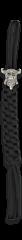 Llavero Paracord Negro calavera vikinga
