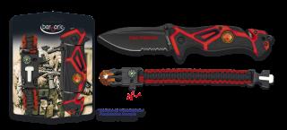 Set Pocket knife FIRE FIGHTER-paracord