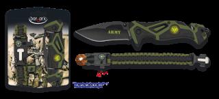 set navaja ARMY FOS + paracord