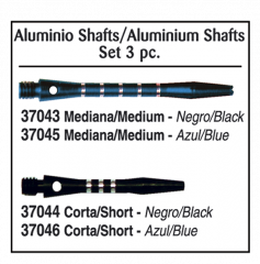 Aluminium Shafts. Short. Silver 3pcs
