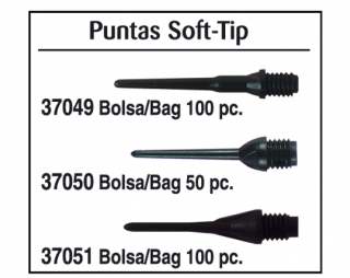 Points Soft-Tip Black 100 pcs