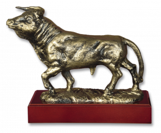 Trofeo resina TORO con peana (18,3 cm)