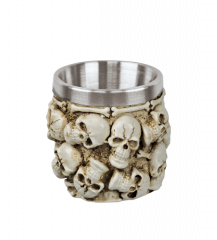 Decoration skulls shot glass. 6 cm