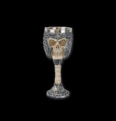 Copa decoración calavera 19 cm
