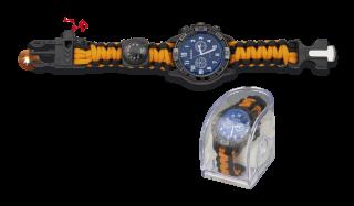 Reloj táctico supervivencia Negro-Naranj