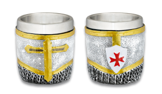 Resin shot glass. Templar in chainmail