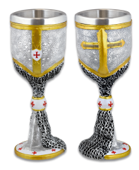 Resin Templars goblet. Chainmail