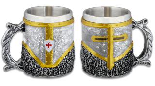 Resin Templar mug. Chainmail