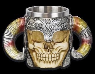 Resin mug. Skull