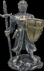 Figura resina Templario con escudo