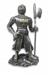 Figura resina Templaria ( lanza-hacha)