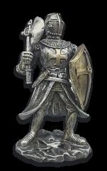 Figura resina  Templaria ( escudo-hacha)
