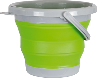 Barbaric green folding bucket