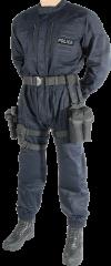 Dark blue police jumpsuit. Size M